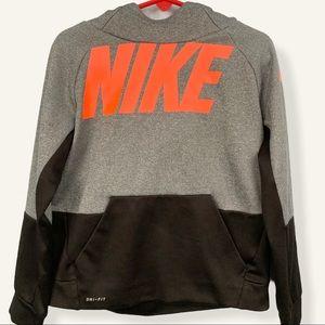 Nike Hoodie Kids Gray Black Dry-Fit Size 4T